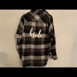 Black, Grey and White BRIDE flannel shirt